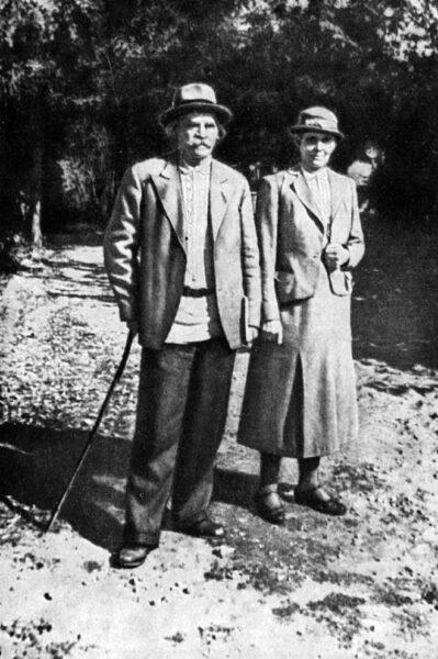 С.Н. Сергеев-Ценский с супругой