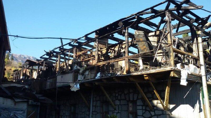 Субботний пожар в Кореизе. 16 человек лишились жилья