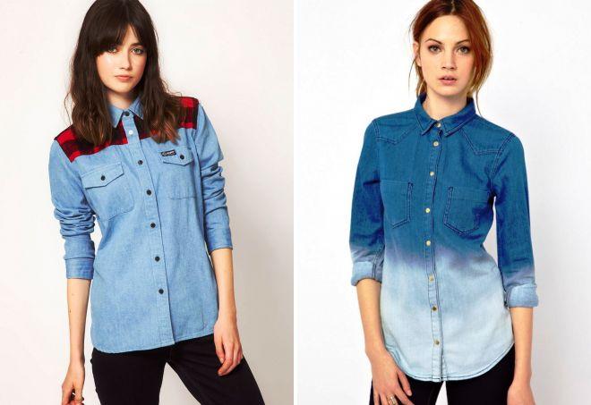 Джинсовая рубашка: классика повседневных образов