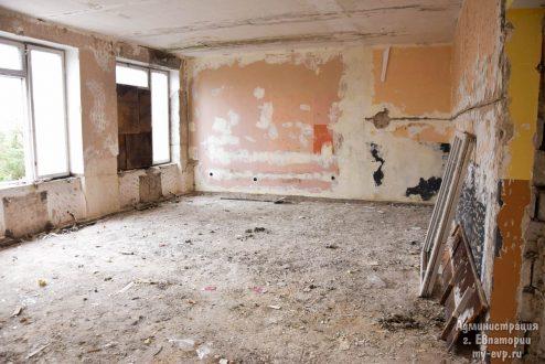 В Евпатории началась реконструкция здания бывшего детского сада «Золотая рыбка»