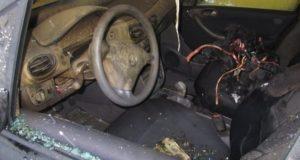В Крыму на ходу загорелся «Mercedes»