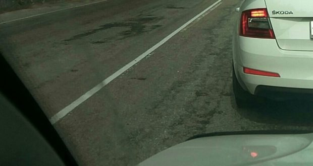Пробки на трассе «Симферополь – Алушта». Причина – ремонт дороги