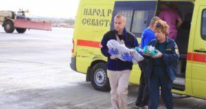 Спецборт МЧС России доставил двух тяжелобольных детей из Крыма в Санкт-Петербург и Москву