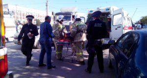 ДТП в Евпатории. На перекрестке столкнулись три автомобиля